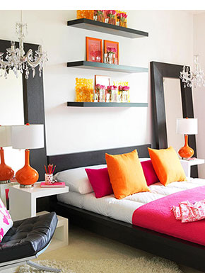 pink decorating ideas elements at home