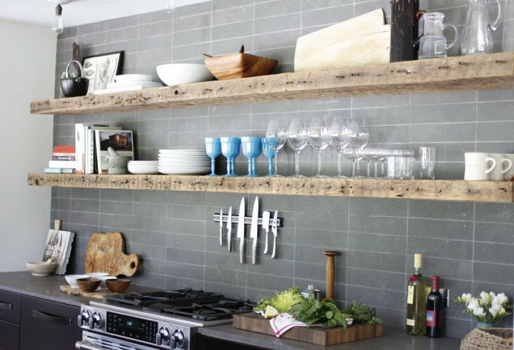Top 10 Tips For Open Kitchen Shelves