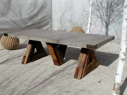 Concrete Outdoor Tables ELEMENTS AT HOME