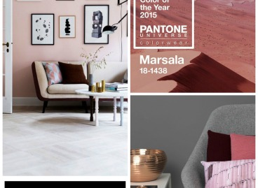 How to add Marsala (the Pantone Colour of 2015) to your interiors.