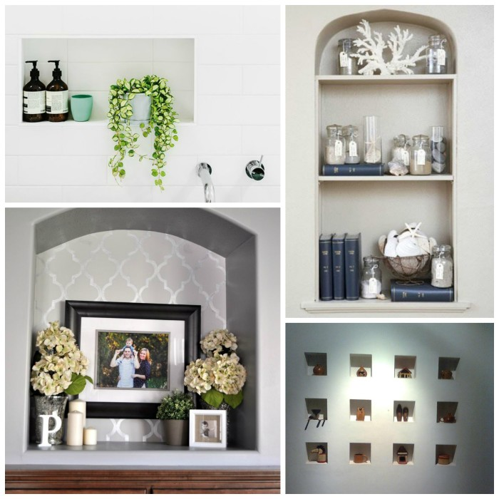 how to decorate a niche   elements at home
