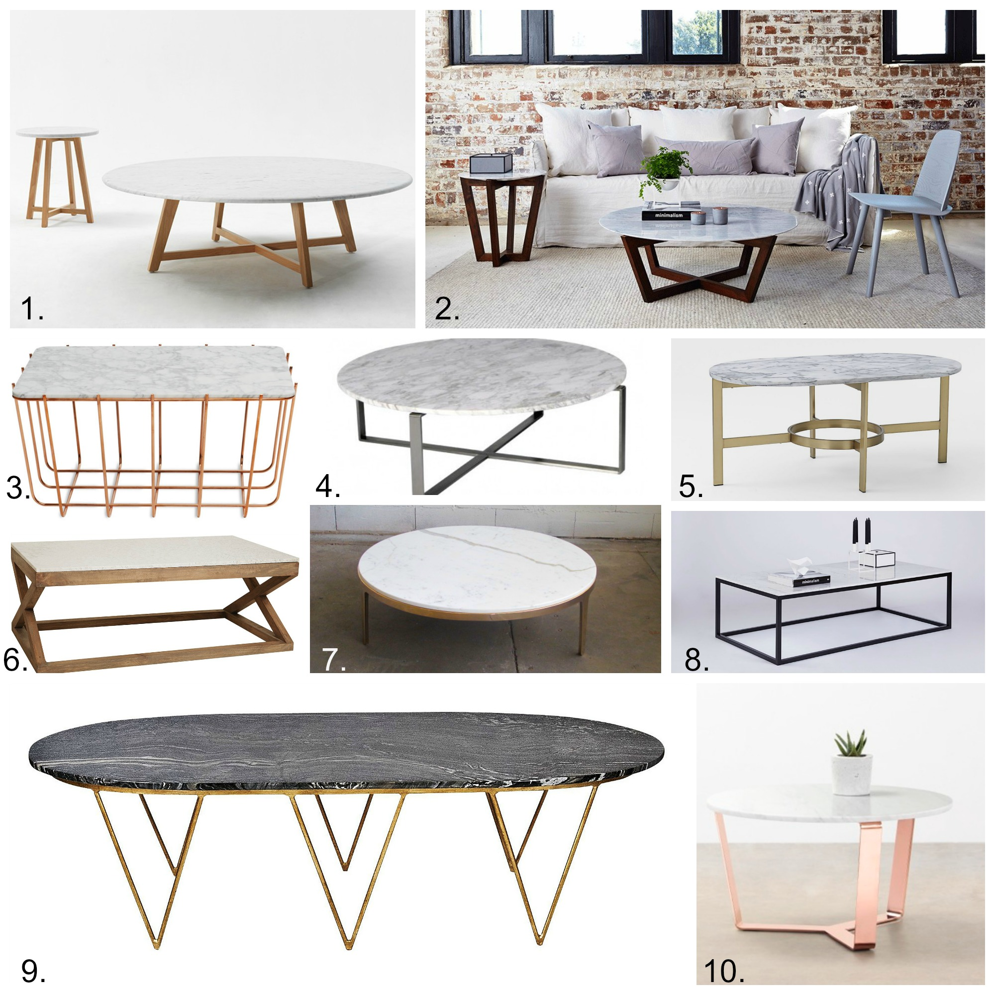 Marble Coffee Tables Shop my links ELEMENTS AT HOME