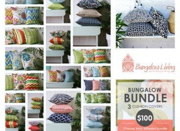 How to mix cushions with Bungalow Living. Bungalow Living take over today.