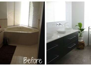 How to renovate a bathroom. A Before and After story.
