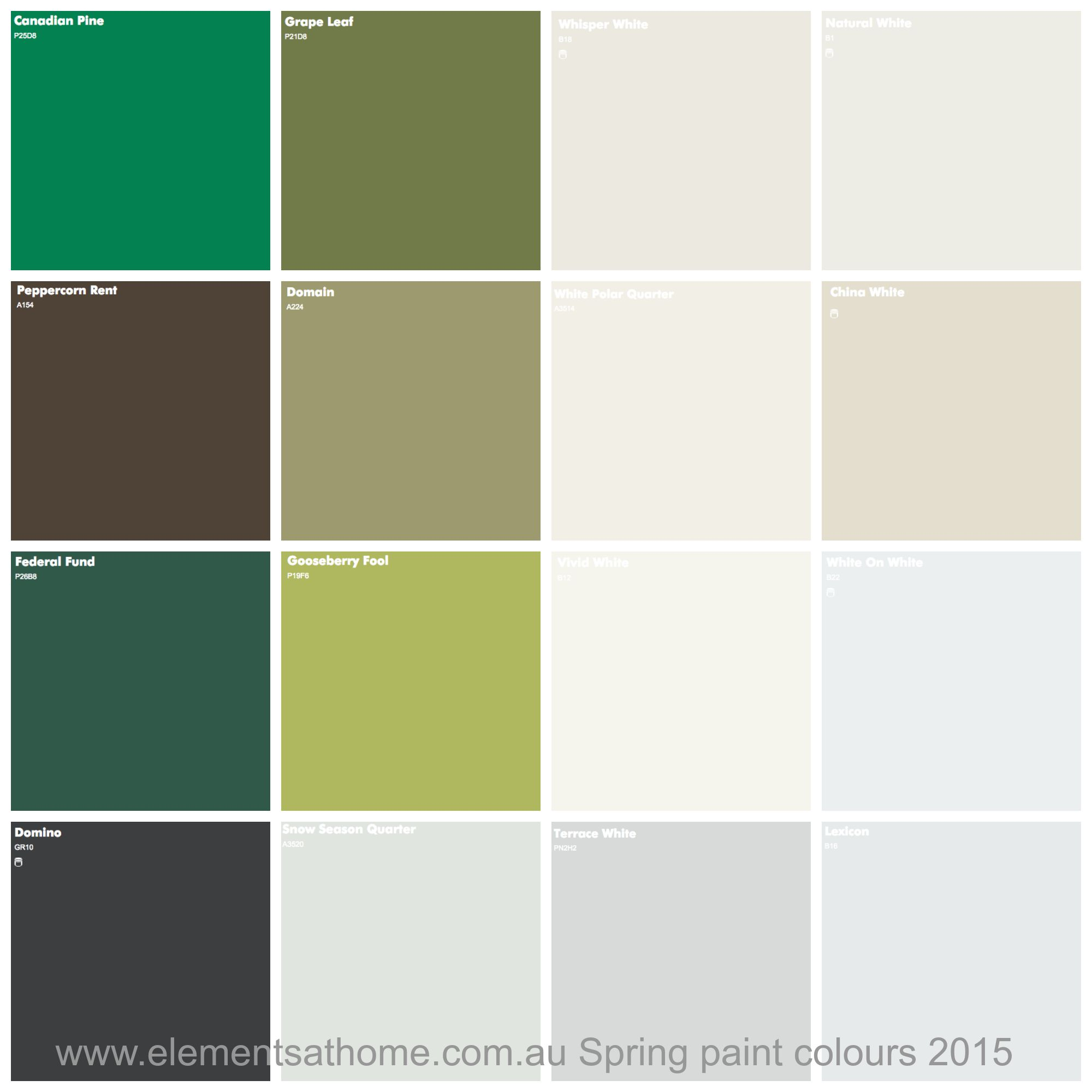 Dulux Kitchen And Bathroom Paint Colour Chart: Dulux Interior Paint Colour Charts